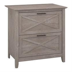 Bush Key West Lateral File Cabinet in Washed Gray