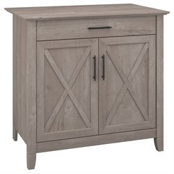 Bush Furniture Key West Storage Cabinet in Washed Gray