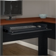 Fairview L Shaped Desk with Hutch in Antique Black - Engineered Wood
