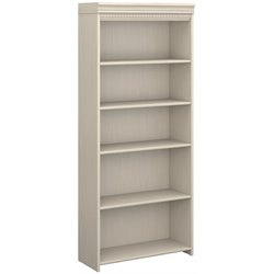 Bush Fairview 5 Shelf Bookcase in Antique White