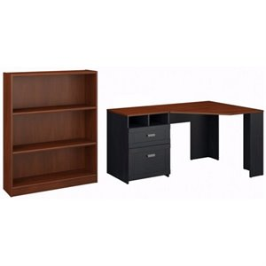 Bush Wheaton 2 Piece Reversible Corner Desk Set