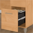 Bush Somerset 60W Office Desk with Cabinet and Bookcase in Maple Cross