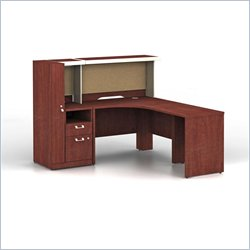 Bush Quantum Harvest Cherry Corner Administrative Configuration with Hutch