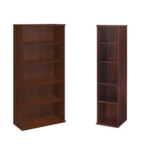 Bush Furniture Series C 2 Piece Office Bookcase in Hansen Cherry