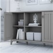 Bush Furniture Salinas Accent Storage Cabinet with Doors in Gray