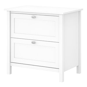 Bush Furniture Broadview 2 Drawer Lateral File Cabinet in Pure White