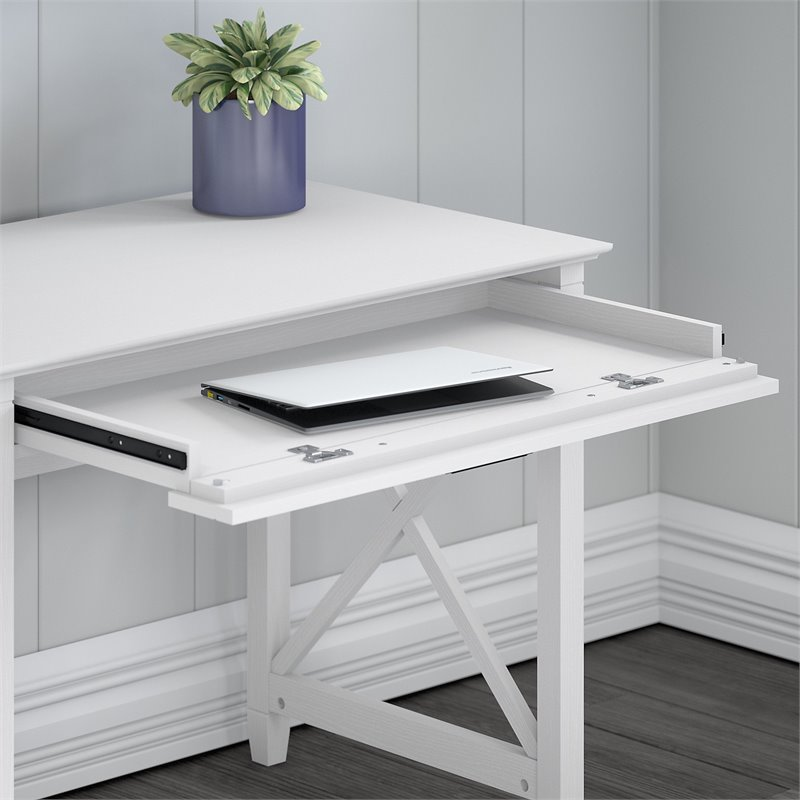 Bush Furniture Key West 54W Computer Desk with Lateral File Cabinet and Bookcase