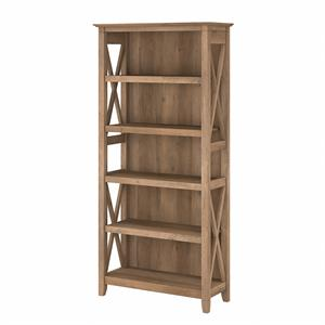 Key West Tall 5 Shelf Bookcase in Reclaimed Pine - Engineered Wood