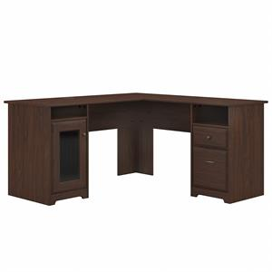 Cabot 60W L Shaped Computer Desk in Modern Walnut - Engineered Wood