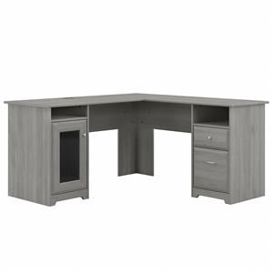 Cabot 60W L Shaped Computer Desk in Modern Gray - Engineered Wood