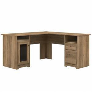 Cabot 60W L Shaped Computer Desk in Reclaimed Pine - Engineered Wood