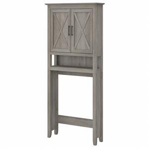 Key West Over The Toilet Storage Cabinet in Driftwood Gray - Engineered Wood