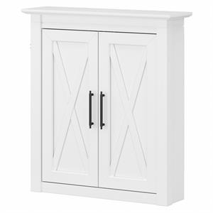 Key West Bathroom Wall Cabinet with Doors in White Ash - Engineered Wood