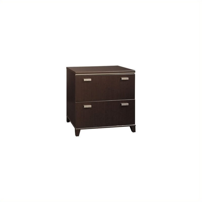 Bush Tuxedo 2 Drawer Lateral File Cabinet in Dark Mocha Cherry