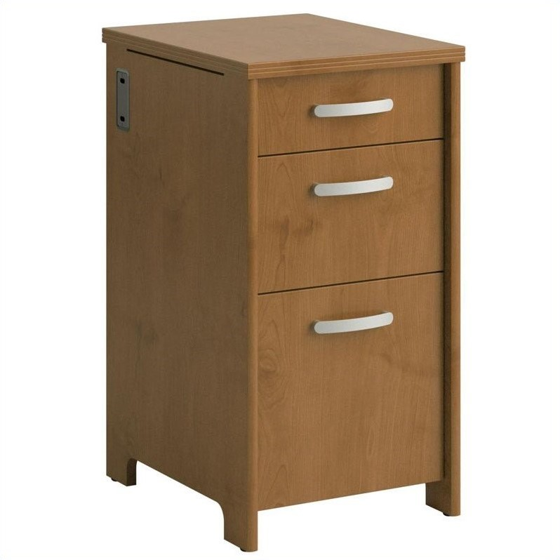 Envoy 3 Drawer File Cabinet in Natural Cherry