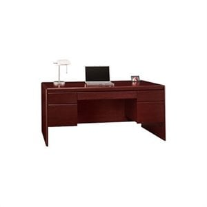 Bush Northfield Wood Computer Desk in Harvest Cherry