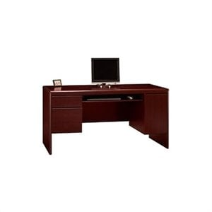 Bush Northfield Double Pedestal Wood Credenza in Harvest Cherry