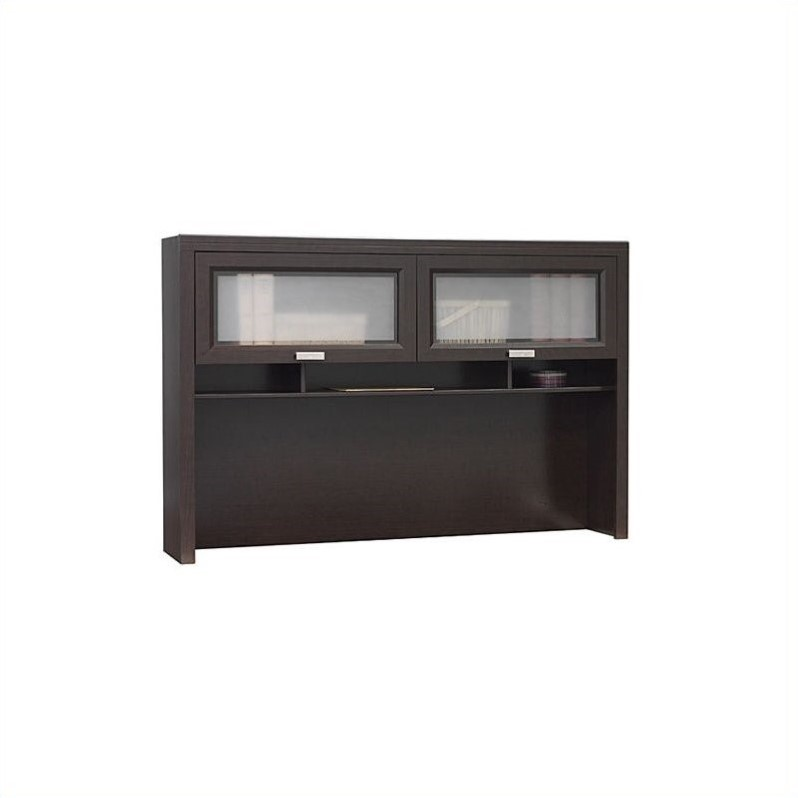 Bush Furniture Tuxedo Hutch For L Shaped Desk In Mocha Cherry