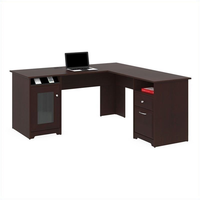 Bush Cabot 60 Quot L Shaped Computer Desk In Harvest Cherry