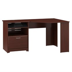 Bush Cabot Corner Computer Desk in Harvest Cherry