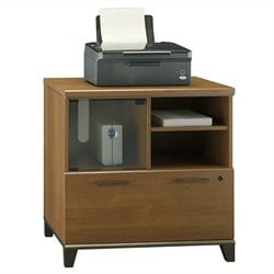 Bush Achieve Lateral File and Printer Stand in Warm Oak