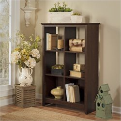 Bush Buena Vista 6 Cube Storage in Madison Cherry