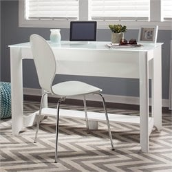 Bush  Furniture Aero Writing Desk in Pure White