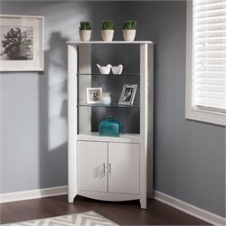 Bush  Furniture Aero 2-Door Tall Library Storage in Pure White