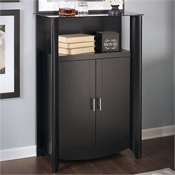 Bush  Furniture Aero 2-Door Medium Library Storage in Classic Black