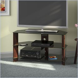 Bush  Furniture Segments Corner TV Stand in Prestige Cherry