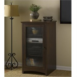 Bush Buena Vista Audio Cabinet Bookcase in Madison Cherry