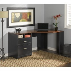 Bush Wheaton Reversible Corner Desk in Antique Black