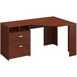 Bush Wheaton Reversible Corner Desk in Hansen Cherry