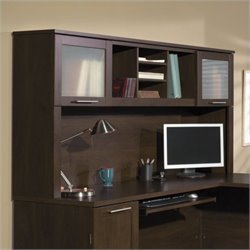 Bush Somerset 71W Hutch in Mocha Cherry