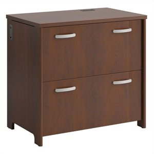 Bush Envoy 2 Drawer Lateral File Cabinet in Hansen Cherry