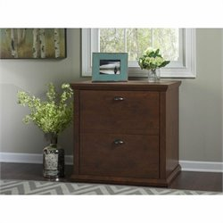Bush Yorktown 2 Drawer Lateral File Cabinet in Antique Cherry