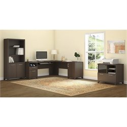 Bush Achieve 3 Piece L Shape Desk Office Set in Sweet Cherry