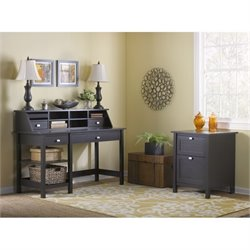 Bush Broadview 2 Piece Office Set in Espresso Oak