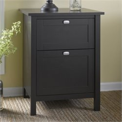 Bush Broadview 2 Drawer File Cabinet in Espresso Oak