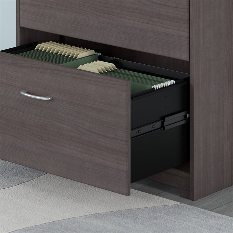 Bush Furniture Cabot Lateral File Cabinet in Heather Gray