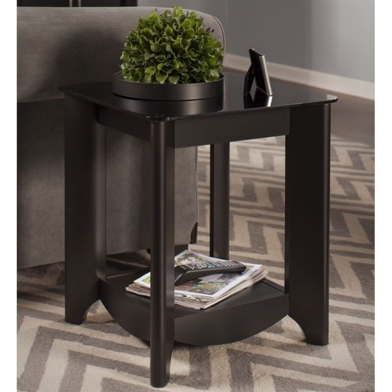 Bush aero coffee table set with tv stand in classic black aer002bk Coffee table tv stand set