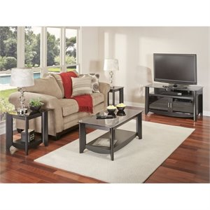 Bush Aero Coffee Table Set with TV Stand in Classic Black