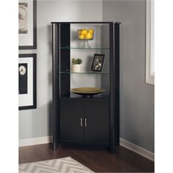 Bush Aero Curio Cabinet in Classic Black (Set of 2)