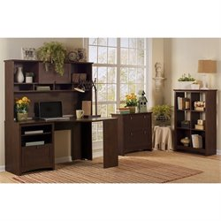 Bush Buena Vista 4 Piece Office Set in Madison Cherry