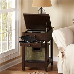 Bush Buena Vista End Table in Madison Cherry (Set of 2)