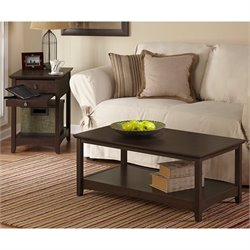 Bush Buena Vista 3 Piece Coffee Table Set in Madison Cherry