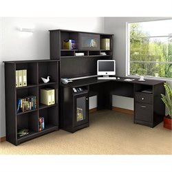 Bush Cabot 3 Piece Office Set -Desk,hutch,Bookcase