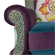 Anya Wingback Accent Arm Chair Multicolored Floral