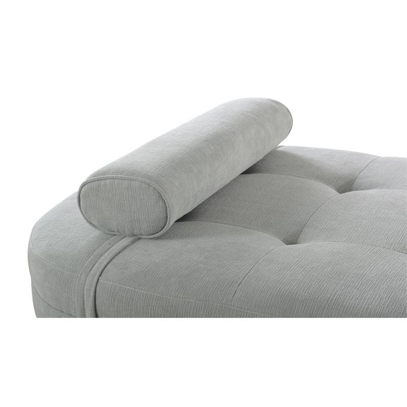 Amazing Sandy Wilson Home Brio Tufted Sofa Bed Mineral Grey Gamerscity Chair Design For Home Gamerscityorg