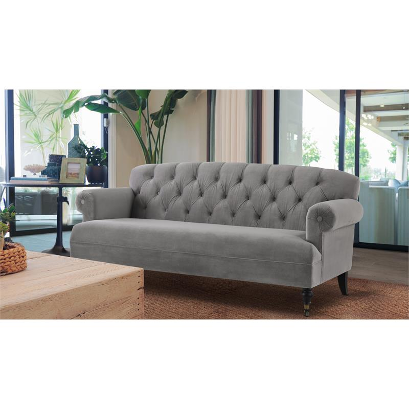 3 Piece Sofa Set with Tufted Rolled Arm Sofa and Set Of 2 Accent Chair